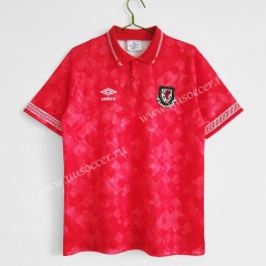 1990-92 Retro Version Wales Home Red Thailand Soccer Jersey AAA-C1046