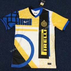 Special Version 2021-2022 Inter Milan Yellow & White Thailand Soccer Jersey AAA
