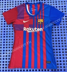2021-22 Barcelona Home Red & Blue Thailand Women Soccer Jersey AAA