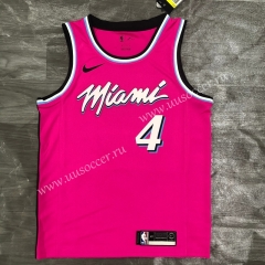 2020-2021 NBA Miami Heat Pink Round collar #4 Jersey-311