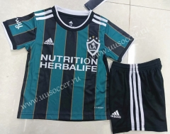 2021-2022 Los Angeles Galaxy Away Black Kids/Youth Soccer Uniform