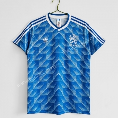 1988 Retro Version Netherlands Away Blue Thailand Soccer Jersey AAA-C1046