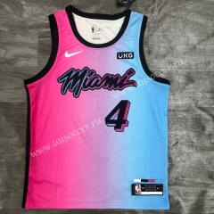 2020-2021 City Version NBA Miami Heat Pink & Blue #4 Jersey-311