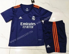 2021-22 Real Madrid Away Royal Blue Kids/Youth Soccer Uniform