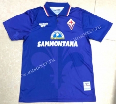 95-96 Retro Version Fiorentina Home Blue Thailand Soccer Jersey AAA