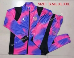 2021-22 Paris SG Jordan Purple & Blue Soccer Jacket Uniform-815