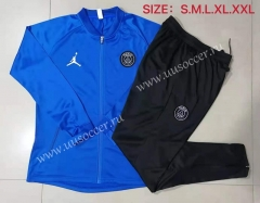 2021-22 Paris SG Jordan Blue Soccer Jacket Uniform-815