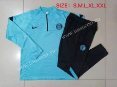2021-2022 Inter Milan Light Blue Thailand Tracksuit -815