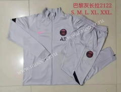 2021-2022 Nik Paris SG Light Gray Soccer Jacket Uniform-815