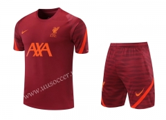 2020-2021 Liverpool Dark Red Thailand Soccer Training Uniform-418