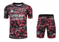 2021-2022 Arsenal Red & Black Thailand Soccer Training Uniform-418