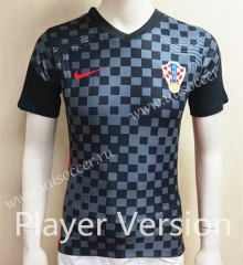 Player Version 2020-2021 Croatia Away Black & Gray Thailand Soccer Jersey-807