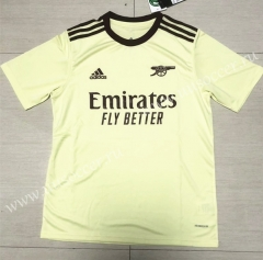 2021-2022 Arsenal Yellow Thailand Soccer Training Jersey-613