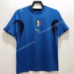 06 Retro Version Italy Home Blue Thailand Soccer Jersey AAA-811
