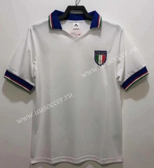 82 Retro Version Italy Away White Thailand Soccer Jersey AAA-811