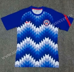 2021-22 Chile Blue & White Training Thailand Soccer Jersey-709