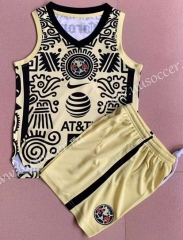 2021-22 Club America Yellow & Black Kids/Youth Soccer Uniform Vest-AY
