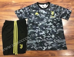 2021-22 Juventus Black Training Soccer Uniform-AY