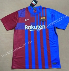 (S-4XL) 2021-2022 Barcelona Home Blue & Red Thailand Soccer Jersey AAA