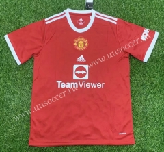 2021-2022 Manchester United Home Red Thailand Soccer Jersey AAA-407