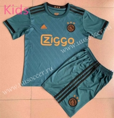 2021-22 Ajax Away Green Youth/Kids Soccer Uniform-AY