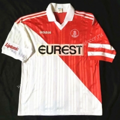 95-96 Retro Version Monaco Home Red & White Thailand Soccer Jersey AAA-503