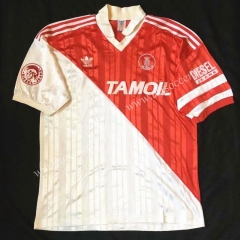 92-94 Retro Version Monaco Home Red & White Thailand Soccer Jersey AAA-503