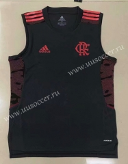 2021-2022 CR Flamengo Black Thailand Soccer Training Jersey Vest-908