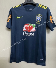 2021-22 Brazil Royal Blue Thailand Training Soccer Jersey-711