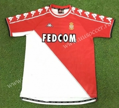 99-00Retro Version Monaco Home Red & White Thailand Soccer Jersey AAA-503