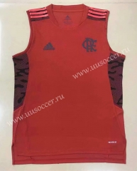 2021-2022 CR Flamengo Red Thailand Soccer Training Jersey Vest-908