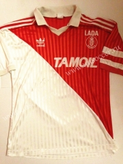 91-92 Retro Version Monaco Home Red & White Thailand Soccer Jersey AAA-503