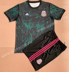 2021-22 Mexico Black & Green Training Soccer Uniform-AY