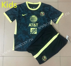 2021-22 Club America Royal Blue Kids/Youth Soccer Uniform-AY