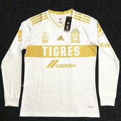 2020/2021 Tigres UANL 2nd Away White LS Thailand Soccer Jersey AAA-YG