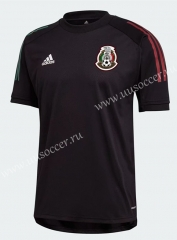 2021-22 Mexico Blck Thailand Training Soccer Jersey-802