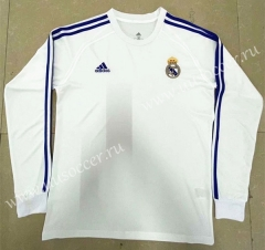 Retro Version Real Madrid Home White Thailand LS Soccer Jeesey AAA-818