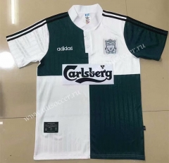 95-96 Retro Version Liverpool White & Green Thailand Soccer Jersey AAA-908