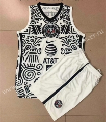2021-22 Club America 2nd Away White & Black Soccer Uniform Vest-AY