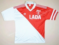 90-91 Retro Version Monaco Home Red & White Thailand Soccer Jersey AAA-503