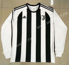 Retro Version Juventus White & Black Thailand LS Soccer jersey-818