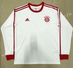Retro Version Bayern München Away White Thailand LS Soccer jersey-818