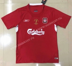 2005 Retro Version Liverpool Home Red Thailand Soccer Jersey AAA-908