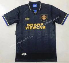 1994 Retro Version Manchester United Black Thailand Soccer Jersey AAA-908