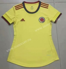 2021-22 Colombia Home Yellow Female Thailand Soccer Jersey-802