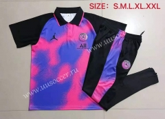 2021-2022 Jordan PSG Blue & PurpleThailand Polo Uniform-815