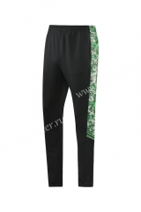 2021-22 Manchester City Black & Green Thailand Soccer  Long Pants-LH