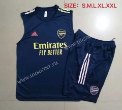 2021-22 Arsenal Royal Blue Thailand Soccer Vest Uniform-815