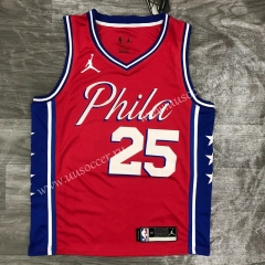 Jordan Topic 2020-2021 NBA Philadelphia 76ers Red #25 Jersey-311