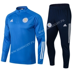 2020-2021 Leicester City Blue Thailand Soccer Tracksuit Uniform-411